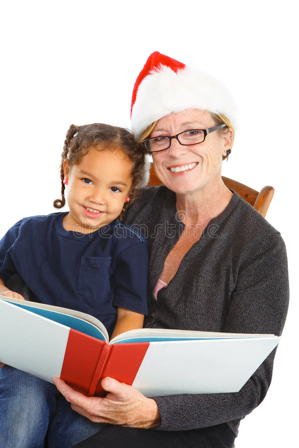 Download Christmas Storytime stock image. Image of daughter, book - 7565279