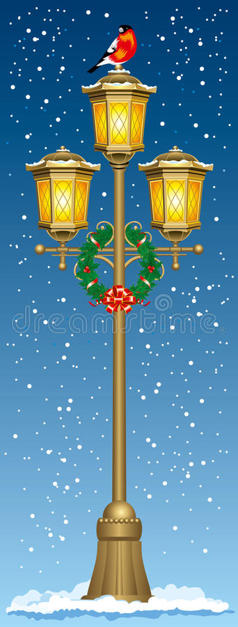 Download Christmas street lantern stock vector. Image of architecture - 15738901