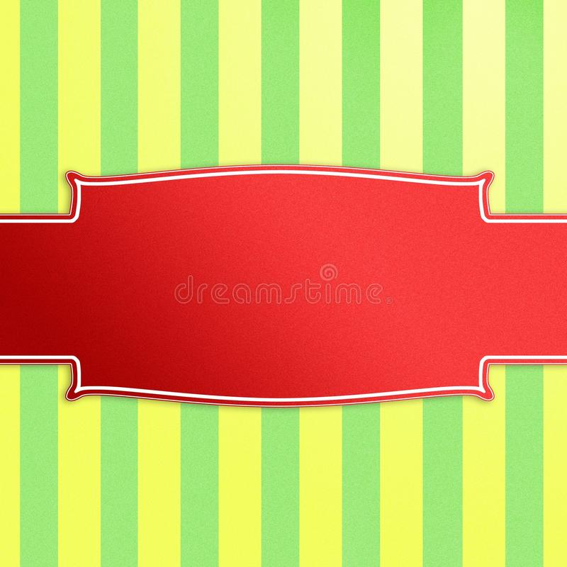 Download Christmas Stripes And Banner. Stock Illustration - Image: 22539914