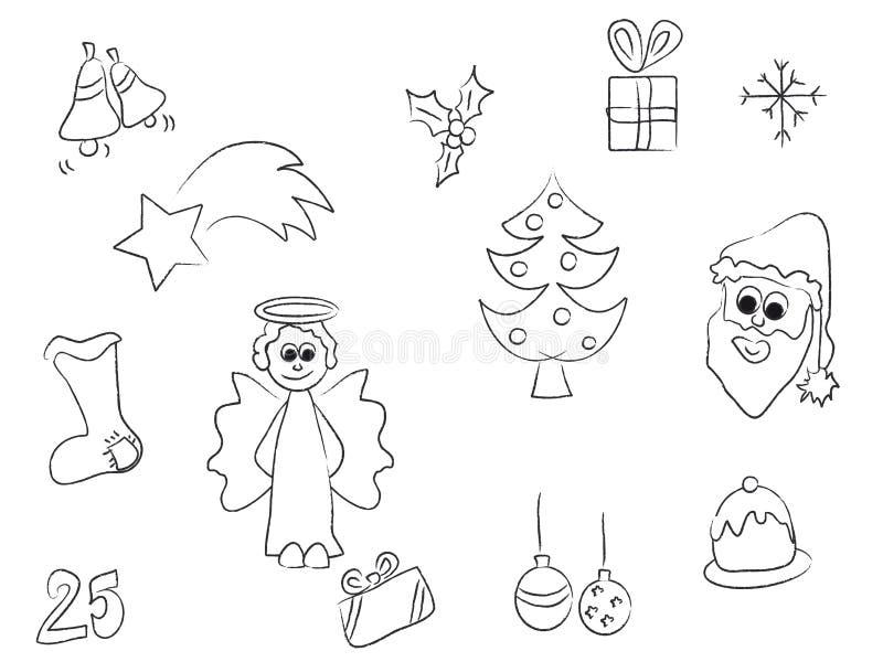 Download Christmas stroke stock illustration. Image of flake, holiday - 6839146