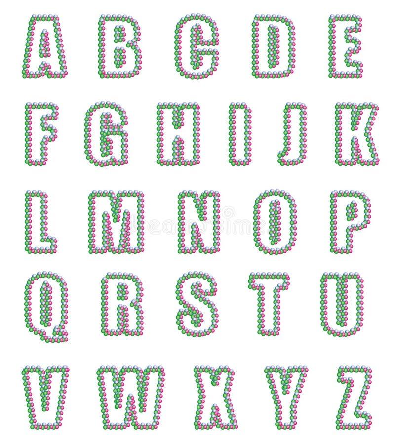 Christmas Stylized Alphabet Royalty Free Stock Image