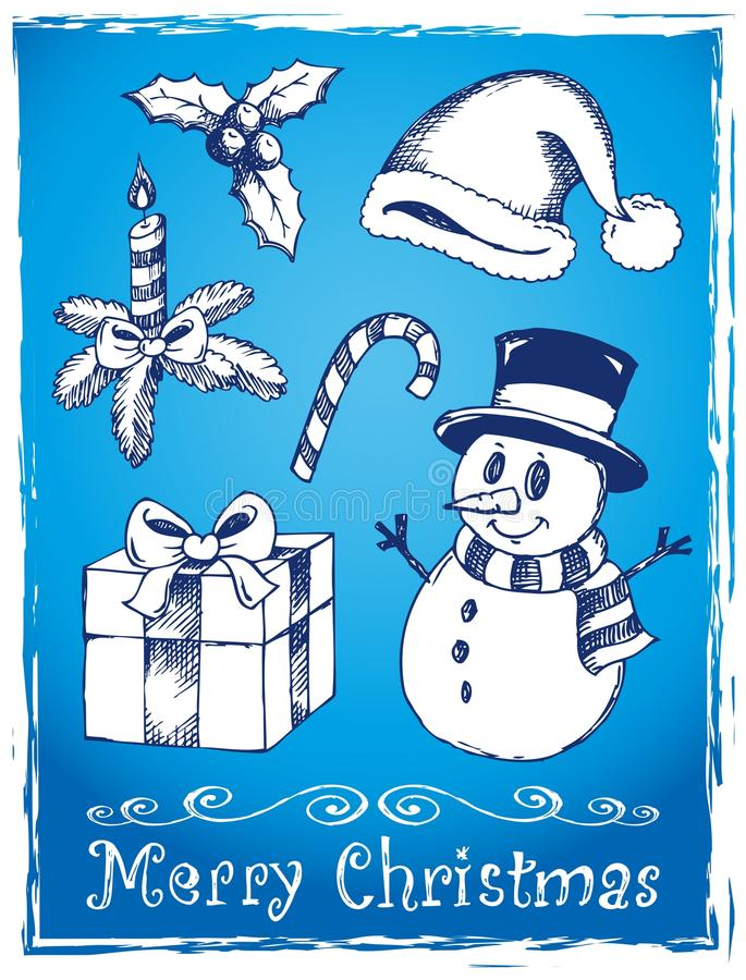 Download Christmas Stylized Drawings 2 Stock Vector - Image: 27068751