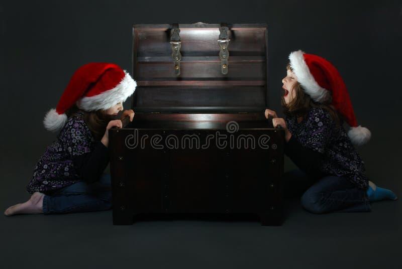 Download Christmas surprise stock photo. Image of curiosity, caucasian - 17289620