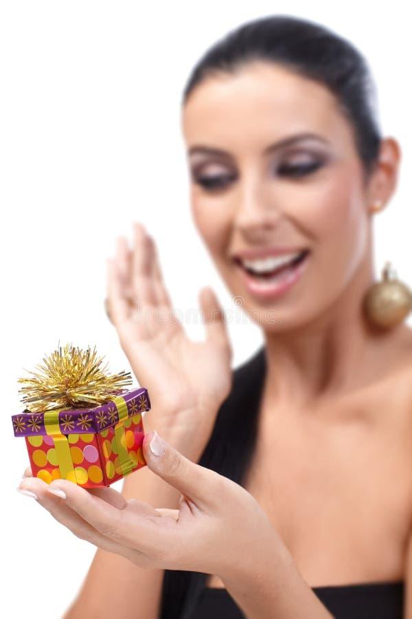 Christmas surprise royalty free stock photos