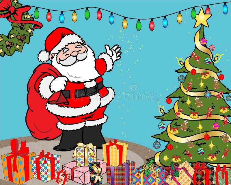 Christmas surprises illustration royalty free stock photo