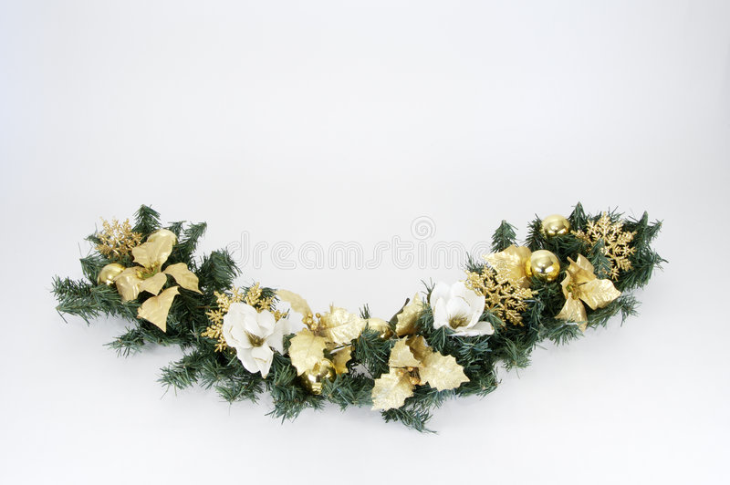 Christmas Swag 5. Swag made of dried and silk flowers royalty free stock photo