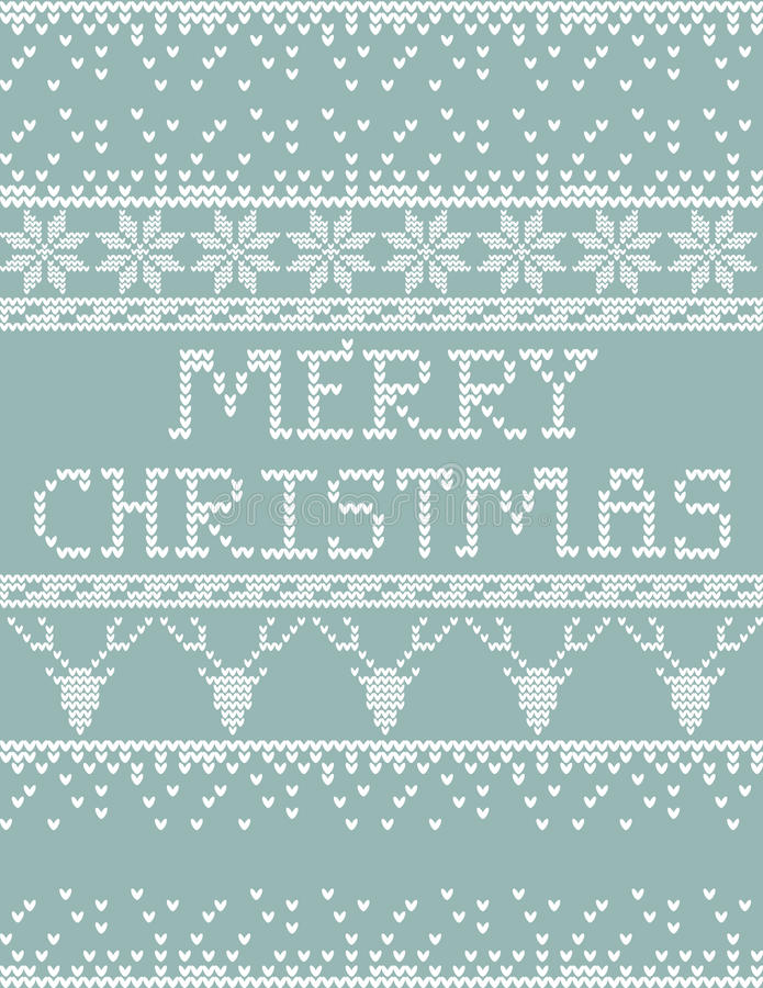 Download Christmas sweater card stock vector. Illustration of pattern - 61581102