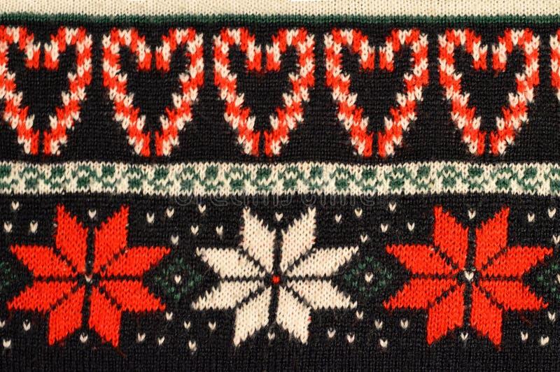 Christmas sweater design stock photo