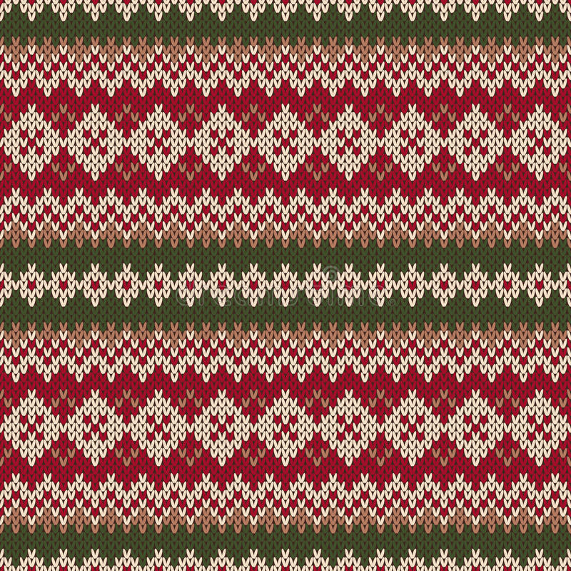 Christmas Sweater Design. Seamless Knitted Pattern In ...