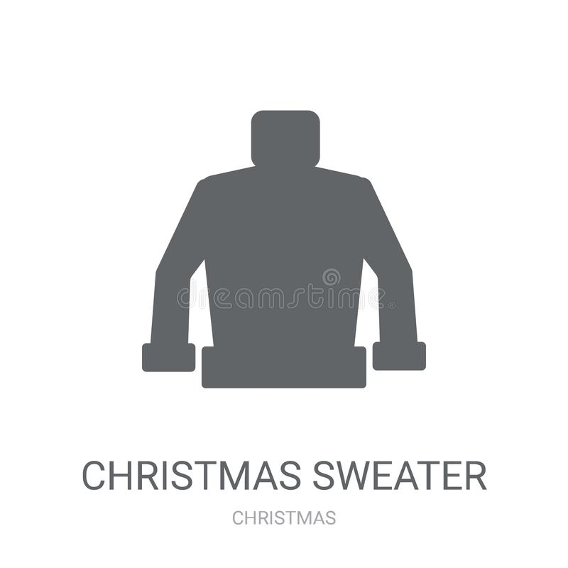 Christmas sweater icon. Trendy christmas sweater logo concept on. White background from Christmas collection. Suitable for use on web apps, mobile apps and stock illustration