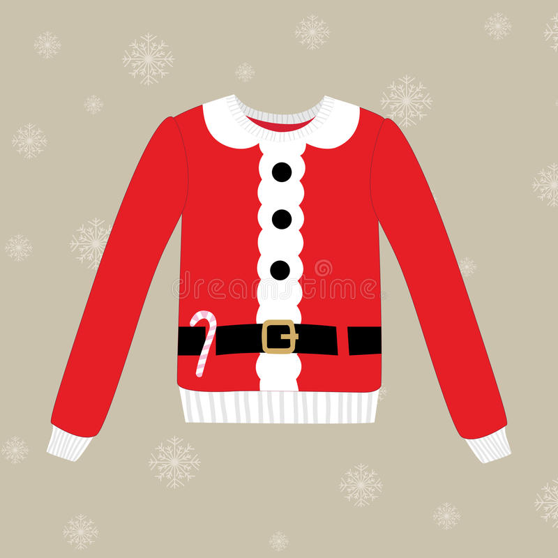Free Christmas Sweater On Background With Snowflakes Royalty Free Stock Photos - 58621598