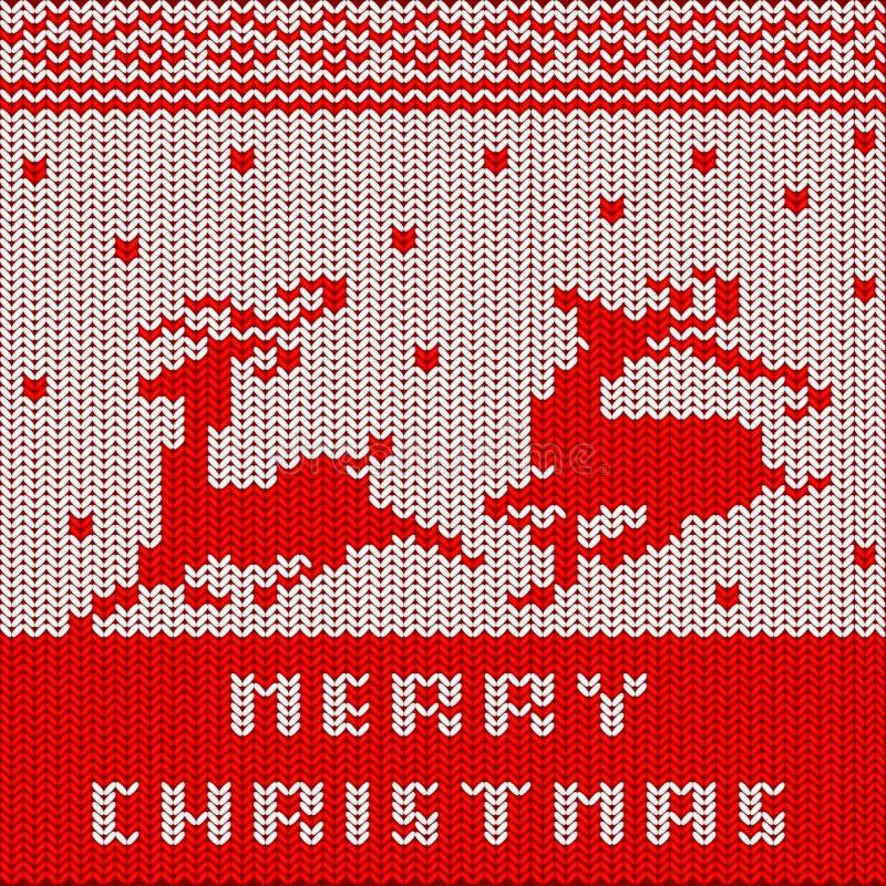 Download Christmas Sweater Pattern stock illustration. Image of celebration - 34769738