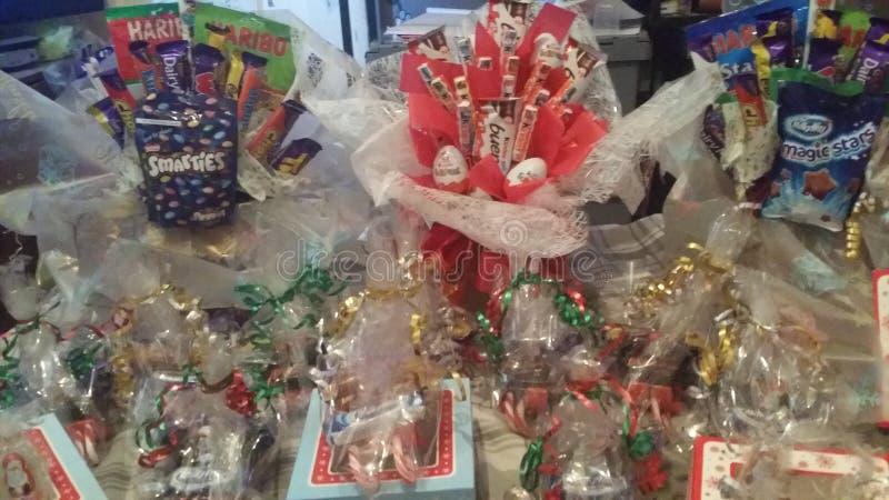 Christmas sweet box arrangement stock image
