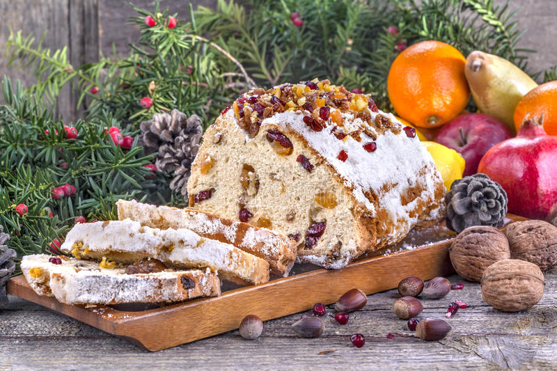 Christmas sweet bread royalty free stock photo