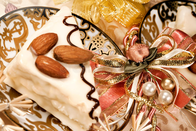 Christmas sweet food and decor royalty free stock photography