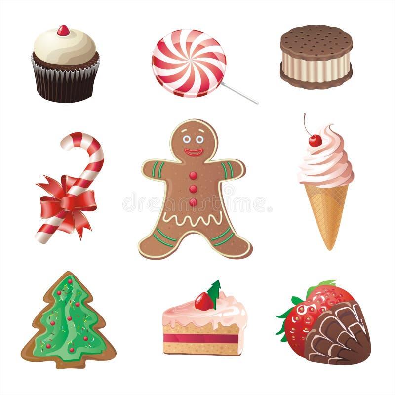 Christmas sweets stock illustration