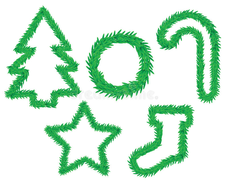 Download Christmas symbols stock vector. Image of icon, pine, ornaments - 17377842