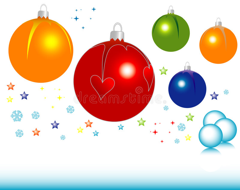 Christmas symbols vector illustration