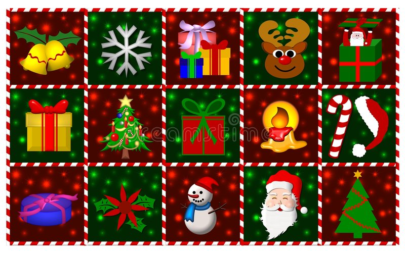 Christmas Symbols stock illustration