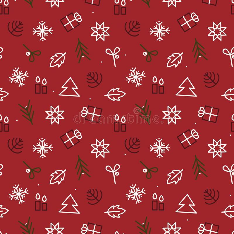 Christmas symbols background royalty free stock images