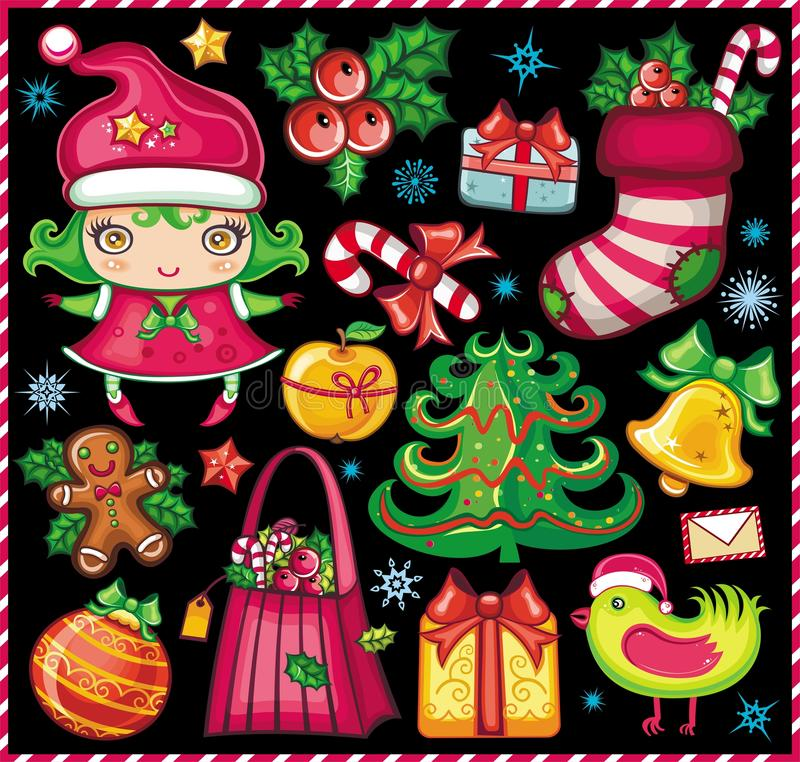Free Christmas Symbols Set! Royalty Free Stock Photography - 11807427
