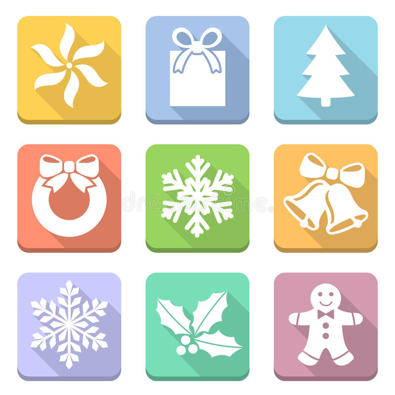 Christmas symbols set royalty free illustration