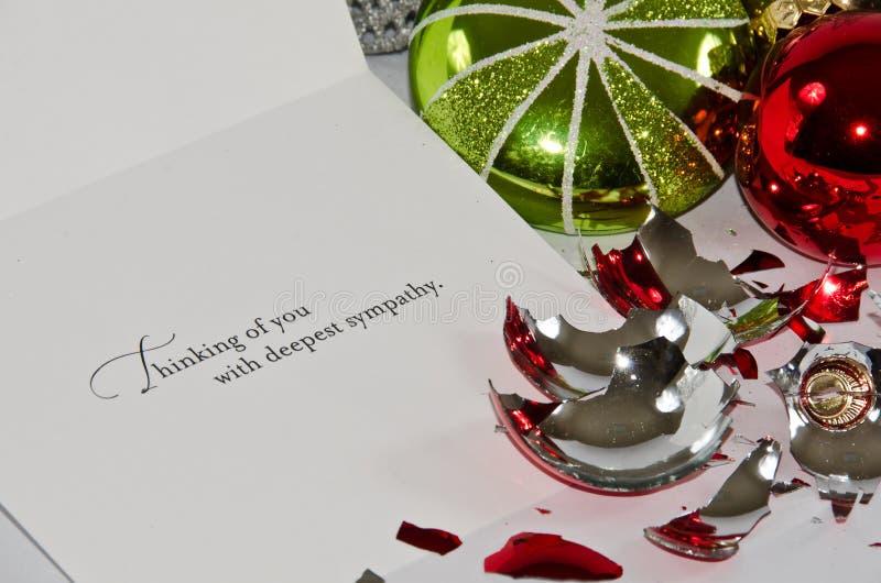 Christmas Sympathy. The Sadness of Christmas Sympathy stock image