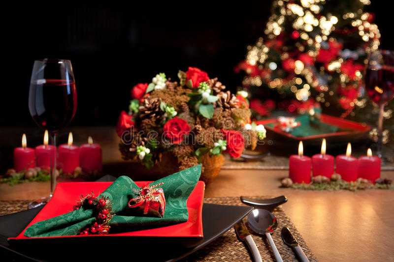 Christmas table 11 royalty free stock photos
