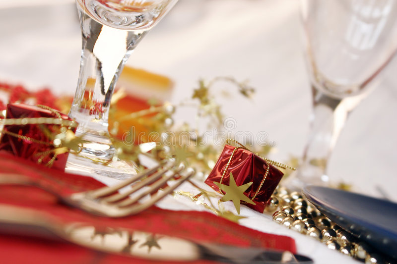Download Christmas table stock photo. Image of holiday, fork, season - 1470006