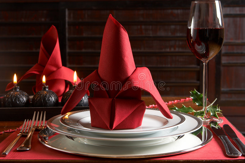 Download Christmas table stock image. Image of dining, dishes, glass - 3240645
