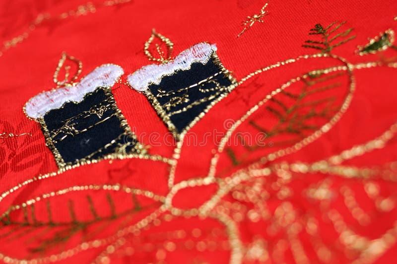 Download Christmas Table Cloth Closeup Stock Image - Image: 28360915