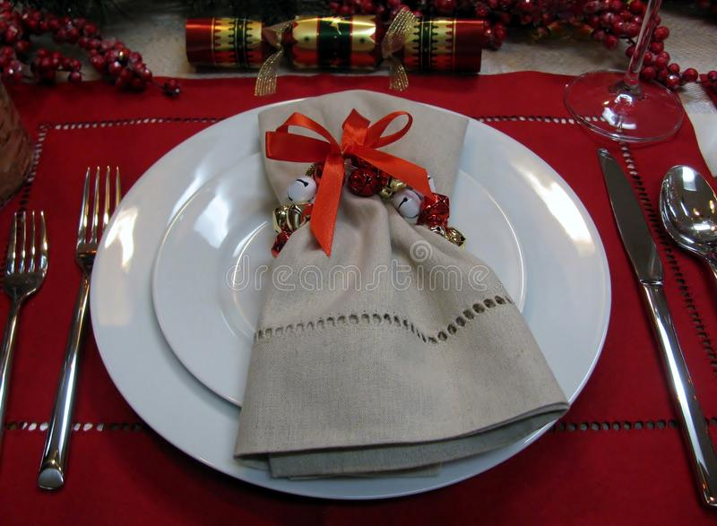 Christmas table dacorations royalty free stock images