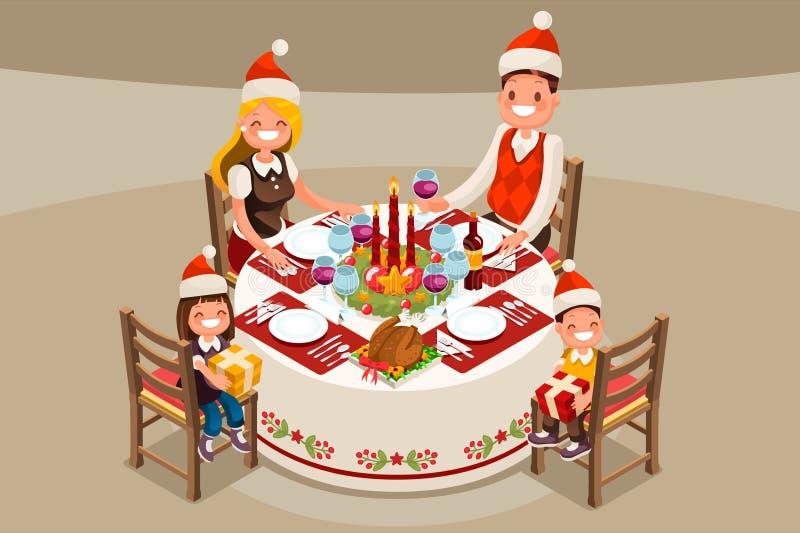 Christmas Table Decoration Vector Illustration royalty free illustration