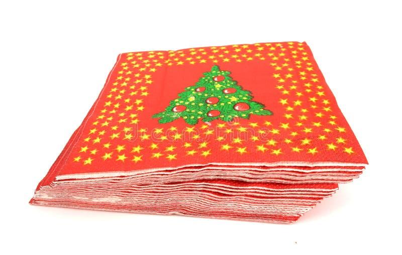 Christmas table napkins. Here are table napkins for Christmas Eve royalty free stock photos