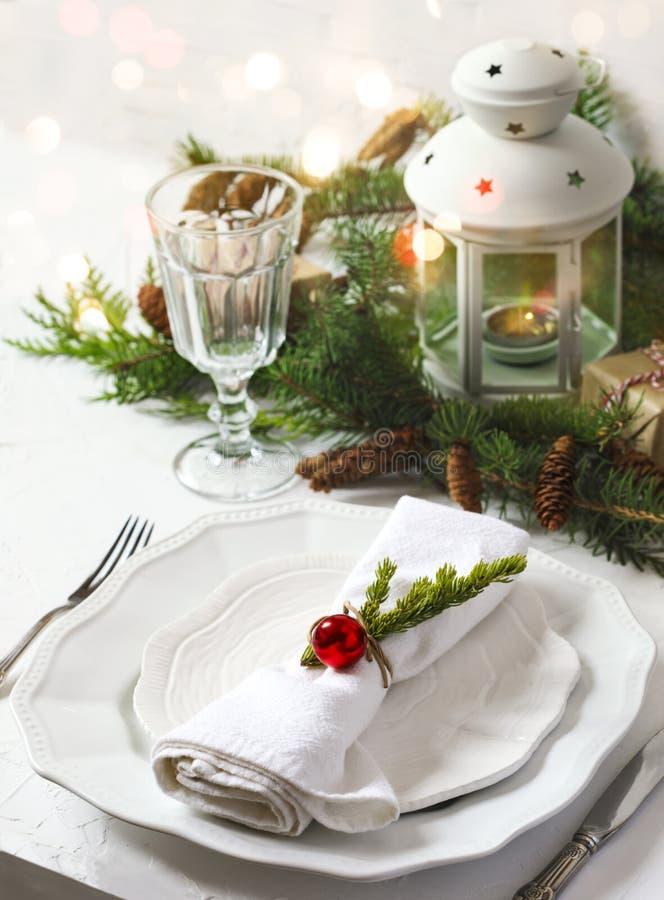 Free Christmas Table Setting Royalty Free Stock Image - 105280346