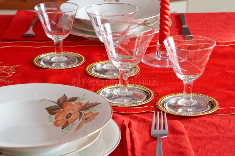 Download Christmas Table Setting Royalty Free Stock Photo - Image: 1695345