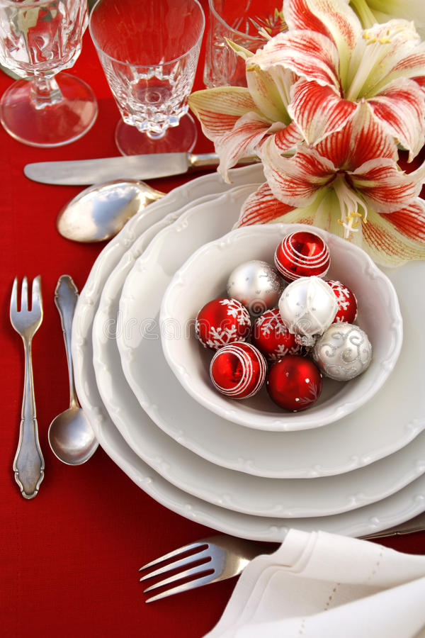 Download Christmas table setting stock image. Image of advent - 22333613