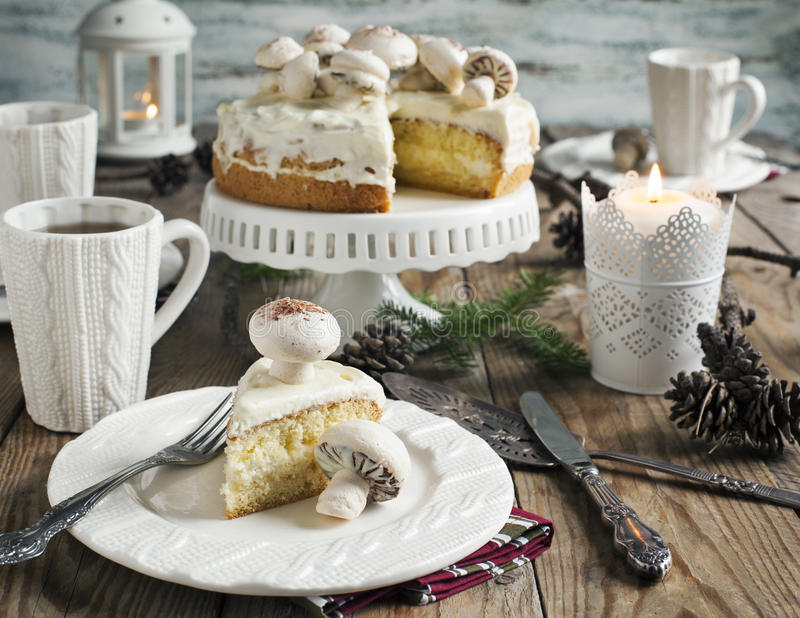 Download Christmas Table Setting With Cake Stock Photo - Image of cake birthday 47022640 : cake table setting - pezcame.com