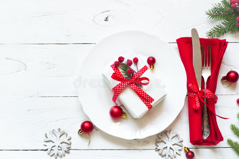 Download Christmas table setting stock photo. Image of background - 63817408