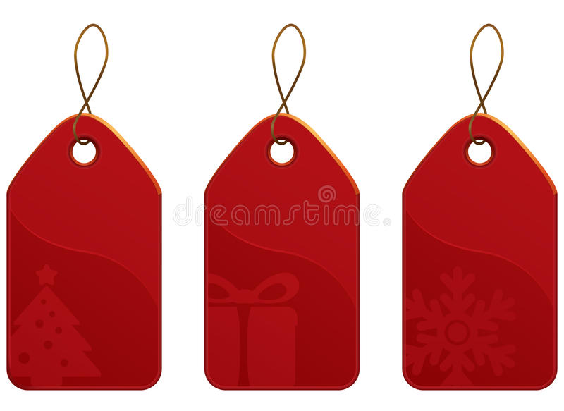Christmas Tag Set vector illustration