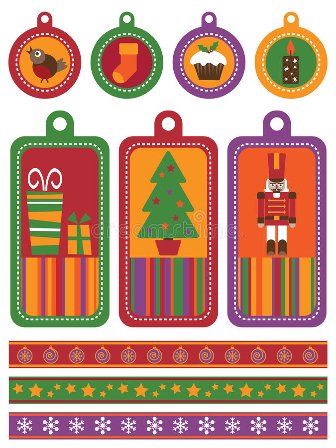 Christmas tags royalty free illustration