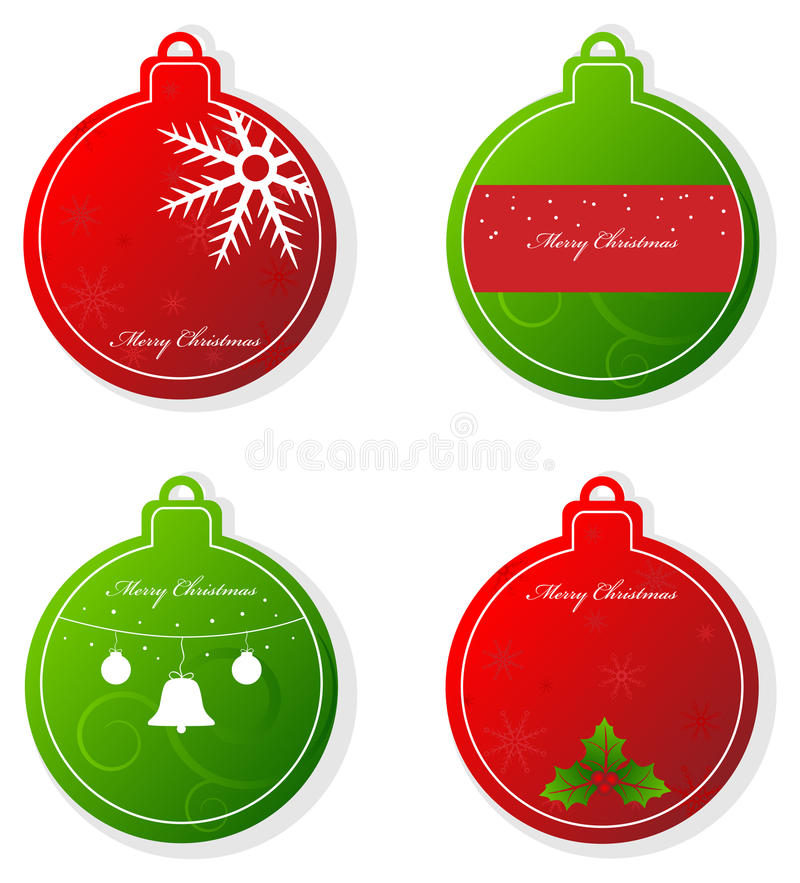 Download Christmas tags stock vector. Image of event, decoration - 17014816