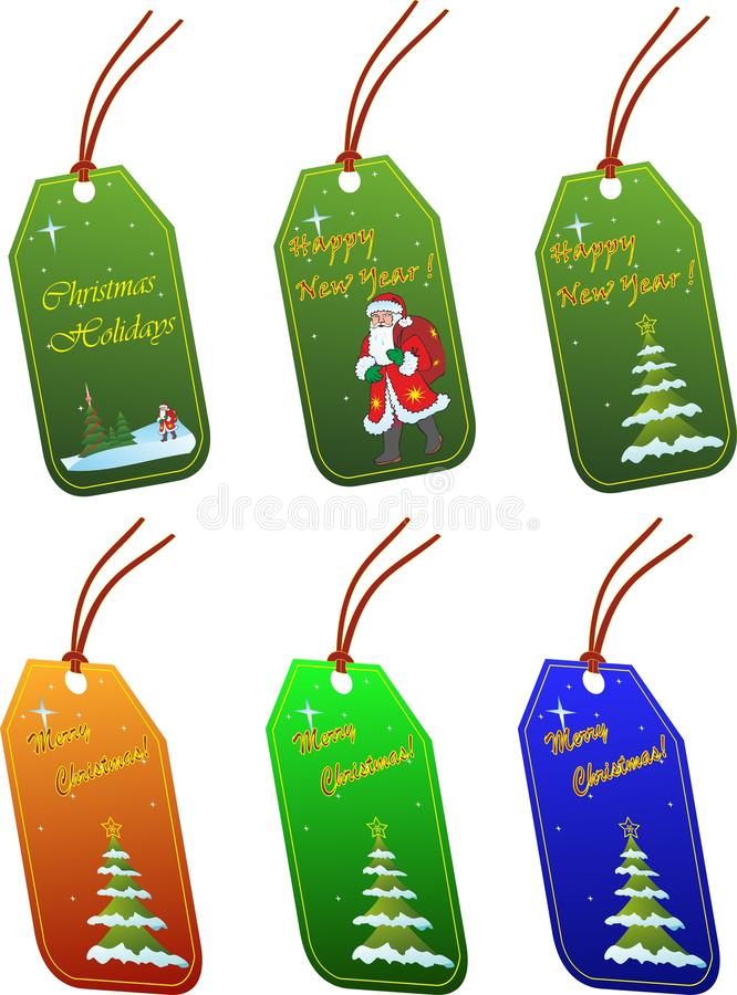 Download Christmas tags stock vector. Image of christmas, gift - 21903967