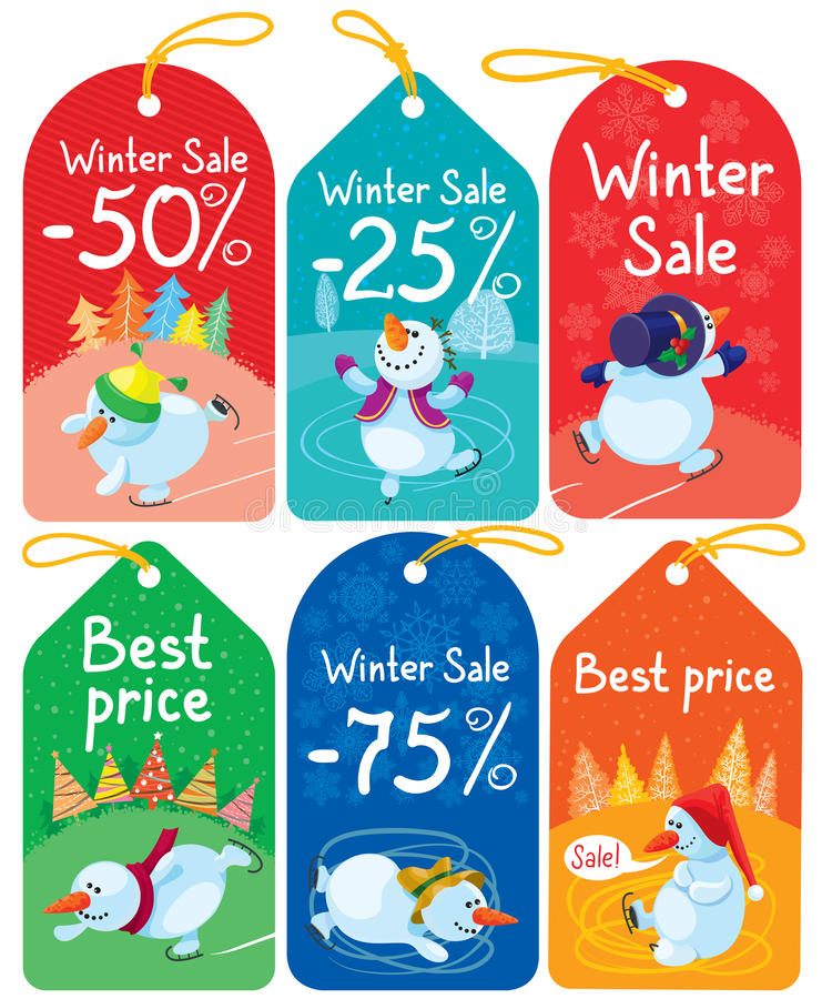 Download Christmas tags stock vector. Image of illustration, holiday - 27554981