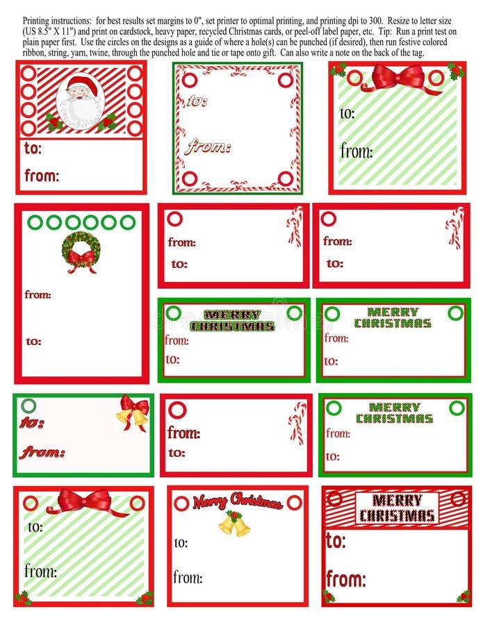 Download Christmas Tags stock illustration. Illustration of label - 27679464