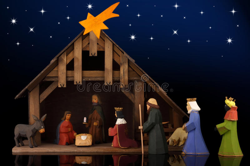 Christmas tale. The christmas tale with a nativity scene