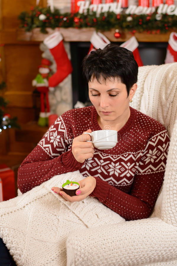 Christmas Tea Party stock images