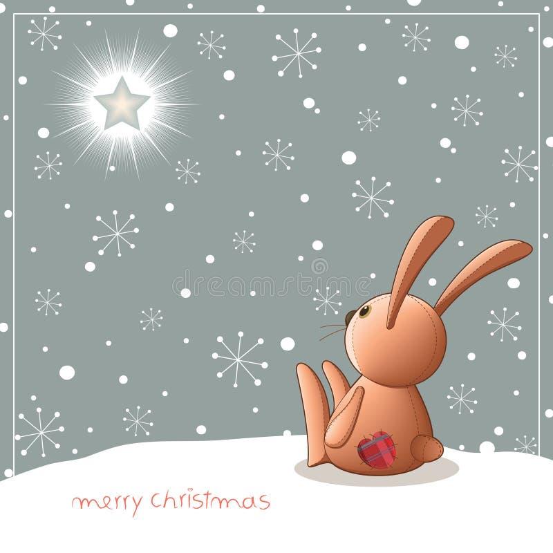 Christmas_teddy stock de ilustración
