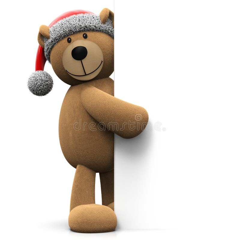 Free Christmas Teddy Bear Stock Image - 102168981