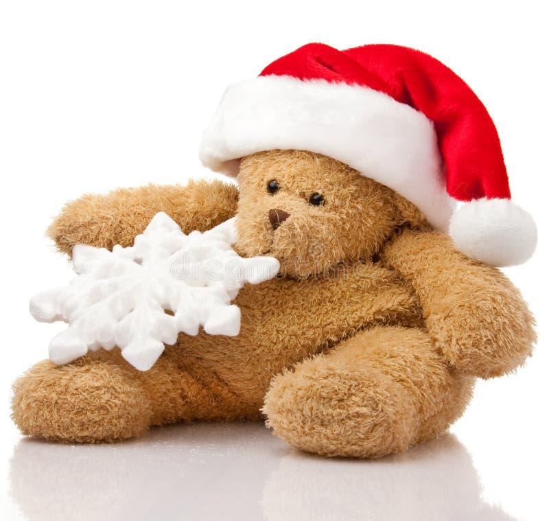 Download Christmas teddy bear stock image. Image of santa, reflection - 12100543